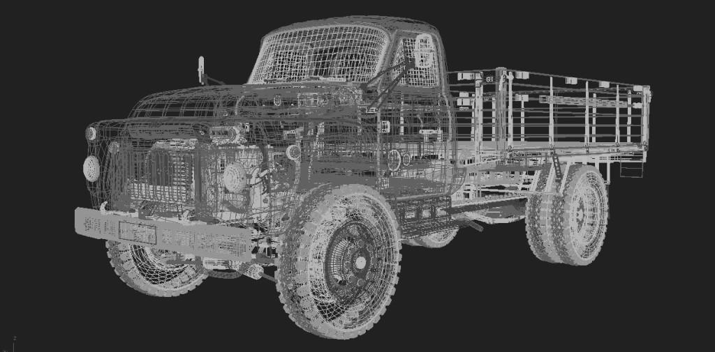 Модель ГАЗ-52 3ds max